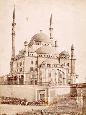 Mohamet Mosque Cairo Egypt Old Zangaki Photo: Felix BONFILS