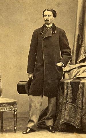 Man Costume Fashion Paris France Old Photo: DISDERI