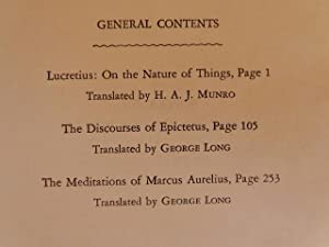 Lucretius:On the Nature of Things/The Discourses of Epictetus/The Meditations of Marcus ...