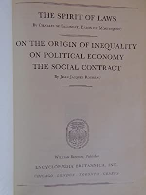 The Spirit of Laws/On The Origin of Inequality:On Political Economy:The Social Contract (Great...