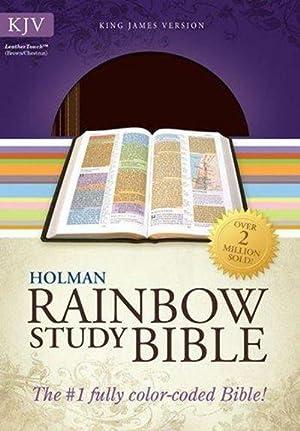KJV Rainbow Study Bible, Brown/Chestnut LeatherTouch: Holman Bible Staff