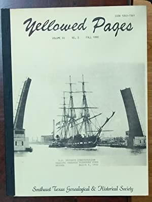 YELLOWED PAGES: Volume 20 Number 03: Southeast Texas Genealogical