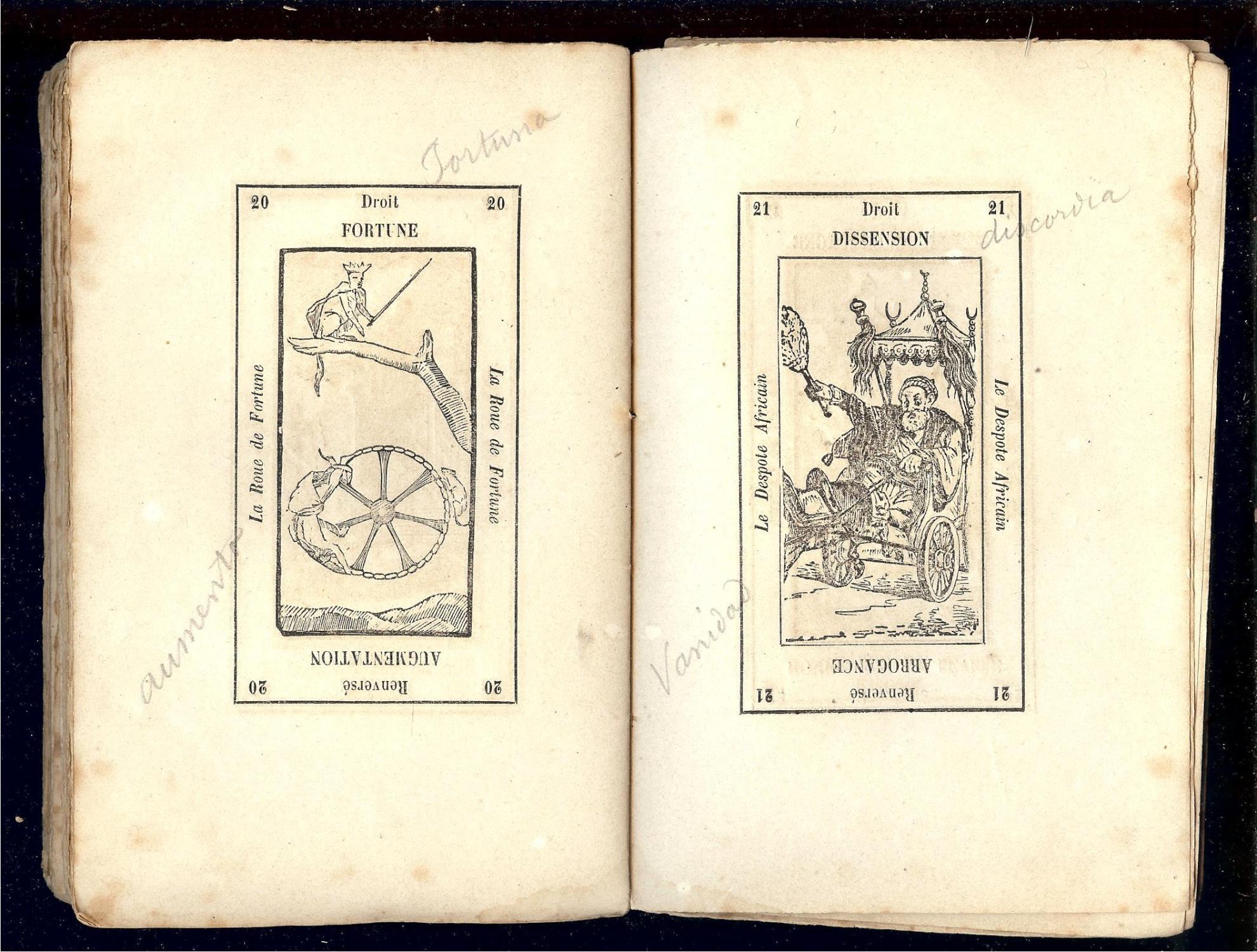 ... LE GRAND ETTEILLA ou l  ART de TIRER les CARTES - IMPRIMÈ vers 1850 par  ... 69b01372ada5