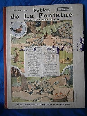 FABLES DE LA FONTAINE . Deuxieme Partie: RABIER Benjamin /