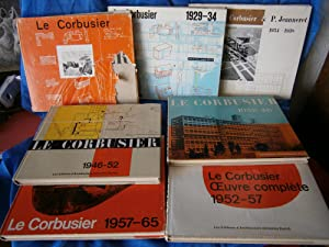 LE CORBUSIER - OEUVRE COMPLETE ( OEUVRES COMPLETES ) . 1910 - 29 / 1929 - 34 / 1934 - 38 ...