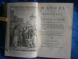 MANUEL DES BOUDOIRS ou ESSAIS ÈROTIQUES sur: ANONYME [ C.F.X.