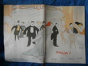 "PARIS : MENU du RESTAURANT "" MAXIM'S: MAXIM'S / SEM"