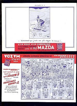 2 BUVARDS PUBLICITAIRE 13,5 x 20,7 cm: DUBOUT
