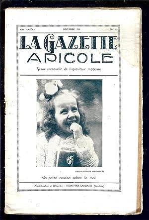 LA GAZETTE APICOLE - REVUE TECHNIQUE de: ALPHANDERY Edmond