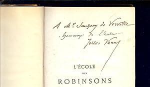 L' ECOLE DES ROBINSONS - Exemplaire avec: VERNE Jules /
