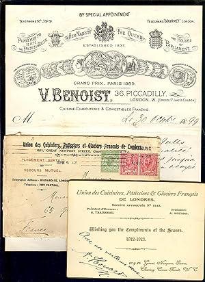 CARTE + ENVELOPPE : UNION des CUISINIERS