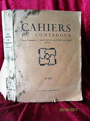 CAHIERS DU CONTADOUR - N° VIII de: GIONO Jean /