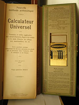 NOUVELLE METHODE ARITHMETIQUE . CALCULATEUR UNIVERSEL: BERGMAN Jean