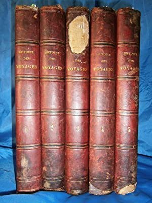 HISTOIRE PITTORESQUE des VOYAGES dans les CINQ PARTIES du MONDE . 5 Volumes / 1843: HATIN Eugene ...