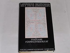 Lateinische Dichtungen des X. und XI. Jahrhunderts.: Berschin, Walter:
