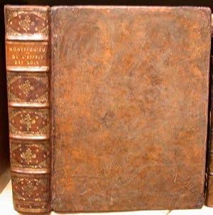 De L Esprit Des Loix: MONTESQUIEU, [Charles Louis de Secondat, Baron De La Brède et de] [1689-1755]...