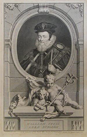 Portrait of English statesman William Cecil, First Baron Burleigh [Burghley] [1520-1598].