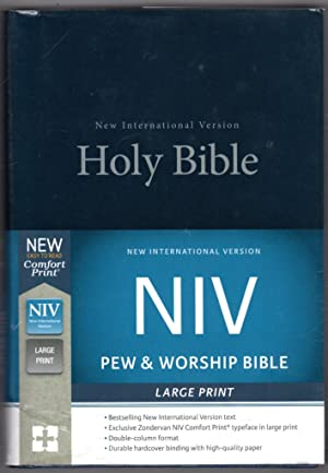 NIV, Pew and Worship Bible, Large Print, Hardcover, Blue, Comfort Print