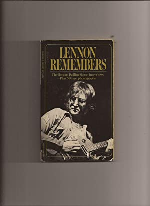 Lennon Remembers: The Rolling Stone Interviews: Wenner, Jann