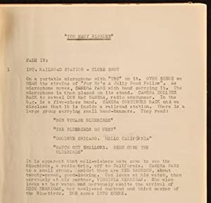 TOO MANY BLONDES (103pp Actor's Copy of the Original 1941 Universal Studios Comedy Screenplay)...