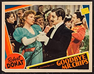 GOODBYE MR. CHIPS (Original 1939 Color Lobby Card SIGNED By Greer Garson): Hilton, James (Greer ...
