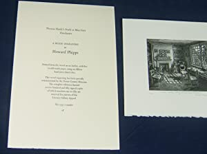 THOMAS HARDY'S STUDY (Signed, Limited Engraving By Howard Phipps): Hardy, Thomas (Howard ...