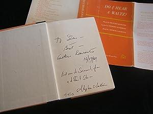 DO I HEAR A WALTZ (Inscribed By Stephen Sondheim AND Arthur Laurents): Sondheim, Stephen (Lyrics), ...