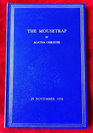 THE MOUSETRAP (In Original Blue Gilt Presentation Binding as Commissioned By Agatha Christie): ...