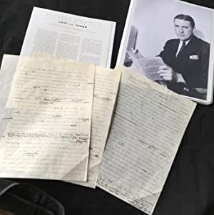 ORIGINAL HAND-CORRECTED TYPESCRIPT FOR HIS HOLLYWOOD ESSAY: Hilton, James