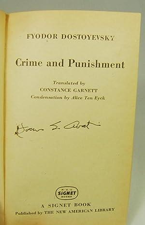 CRIME AND PUNISHMENT (Signed By Cover Artist James Avati): Dostoyevsky, Fyodor
