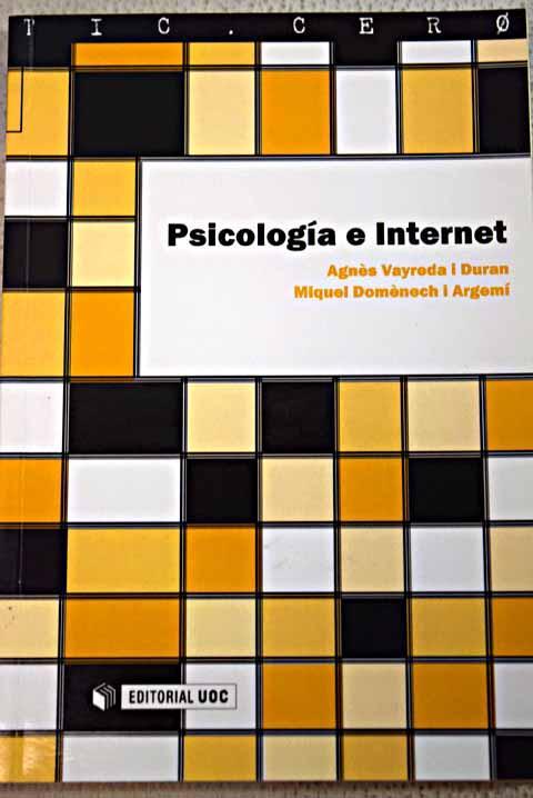 Psicología e Internet - Vayreda i Duran, Agnès