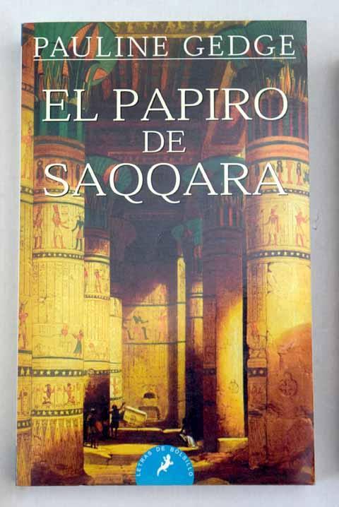 libro el papiro de saqqara