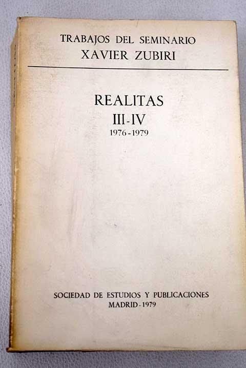 Realitas, tomo III-IV