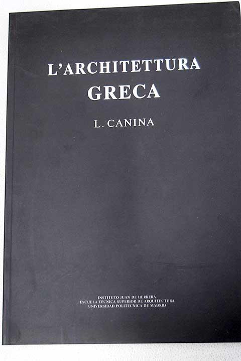 L'architettura greca - Canina, Luigi