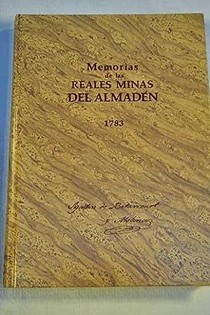 Memorias de las Reales Minas del Almadén,: Betancourt, Agustín de