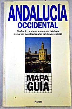 Andalucía occidental: mapa de carreteras sumamente detallado,
