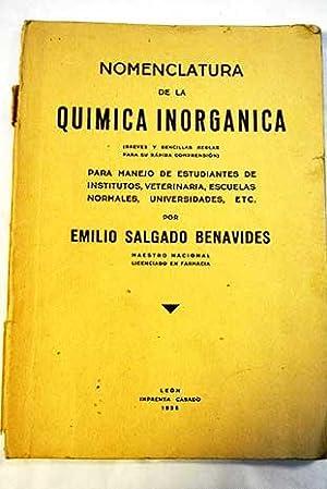 Momenclatura de la química inorgánica: Salgado Benavides, Emilio