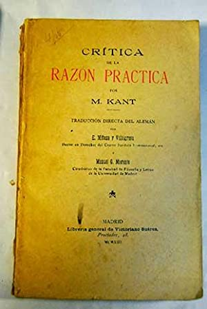 Crítica de la razón práctica: Kant, Immanuel