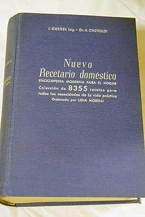 Nuevo recetario doméstico: enciclopedia moderna para el: Chersi, I. y