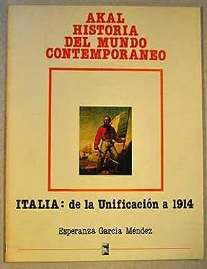 Italia, de la unificacion hasta 1914 (Akal: García Méndez, Esperanza