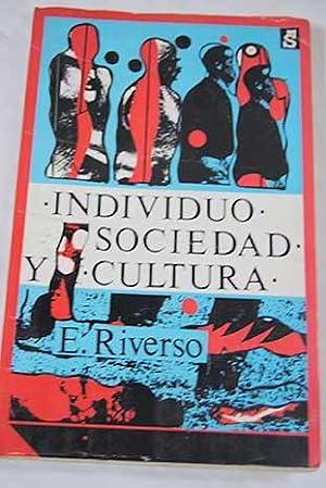 Individuo, sociedad y cultura: introducción a la: Riverso, Emmanuele