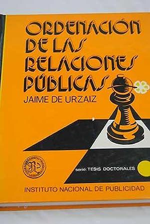 Ordenación de las relaciones públicas: Urzáiz y Fernández