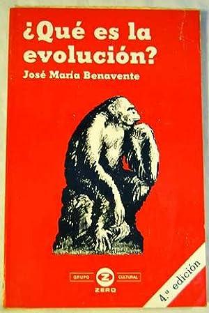 Qué es la evolución?: Benavente Barreda, José