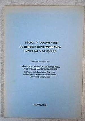 Textos y documentos de historia contemporanea universal: VV.AA