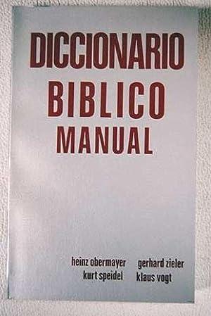 Diccionario bíblico manual: VV.AA