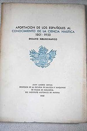 Aportación de los españoles al conocimiento de: Llabrés Bernal, Juan