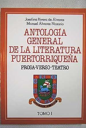 Antología general de la literatura puertorriqueña: prosa,: Josefina Rivera de