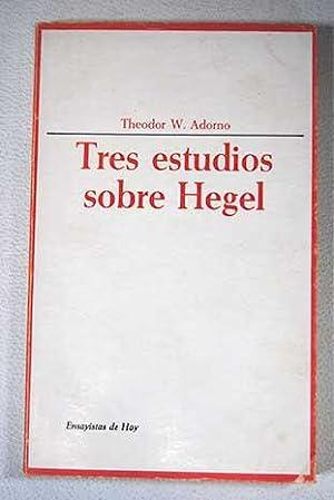Resultado de imagen para ADORNO, Theodor - Tres estudios sobre Hegel