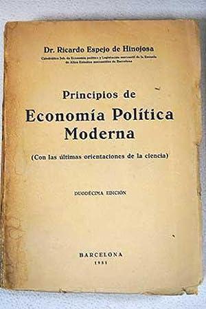 Principios de Economía política moderna (Con las: Espejo de Hinojosa,
