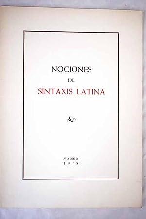 Nociones de Sintaxis Latina